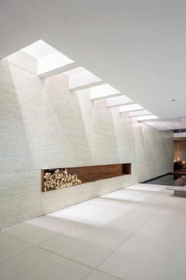 21. Arquitetura moderna com pergolado de concreto com pintura branca. Fonte: Christos Drazos Photography