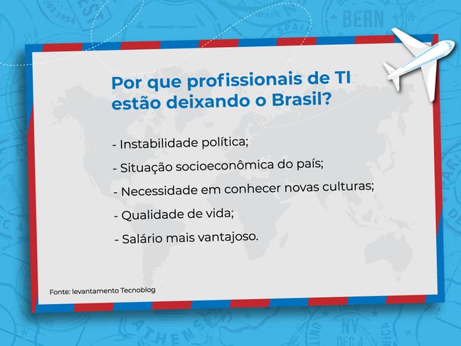 Por que profissionais de TI estão deixando o Brasil