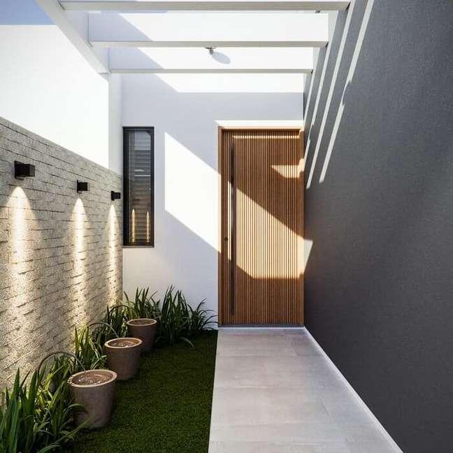 36. O pergolado de concreto é uma extensão da construção. Fonte: Dicas Decor