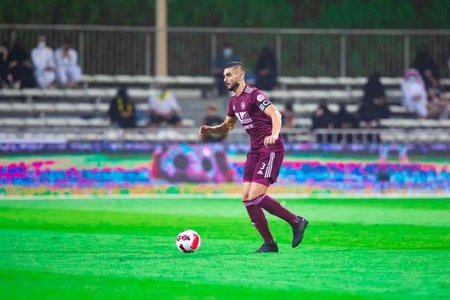 Igor Rossi já disputou 138 partidas com a camisa doAl-Faisaly (Foto: Divulgação/Al-Faisaly)