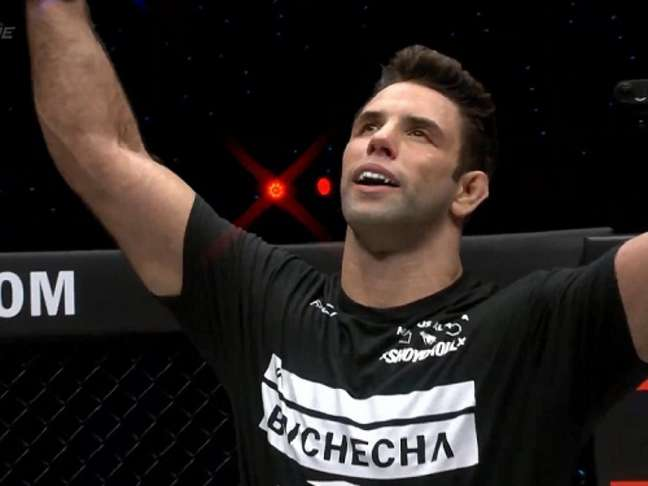 Buchecha estreou no MMA com vitória por finalização no primeiro round (Foto: Reprodução/ONE Championship)