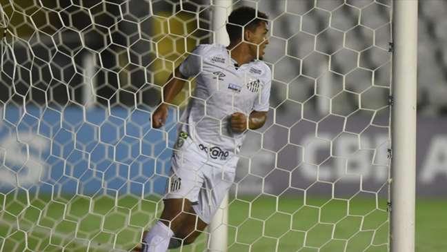 Marcos Leonardo foi o último atacante do Santos a balançar as redes (Foto: Ivan Storti/Santos FC)