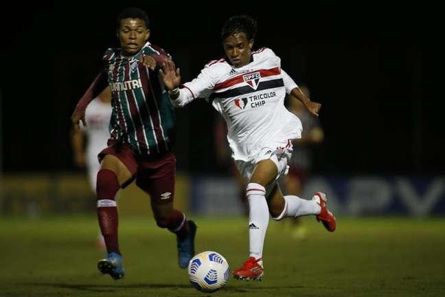 São Paulo e Fluminense empataram nas quartas da Copa do Brasil sub-17 (Foto: Miguel Schincariol/Saopaulofc.net)
