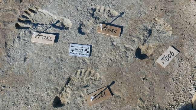Equipe de cientistas atuando no sudoeste dos EUA encontrou pegadas humanas que foram datadas entre 23 mil e 21 mil anos atrás