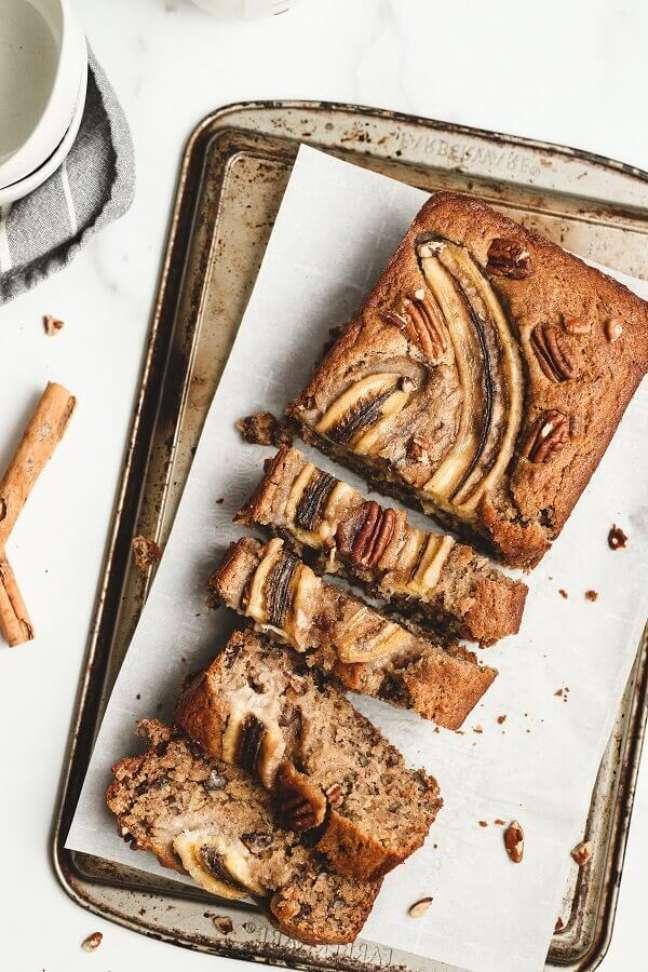 4. Receita de bolo de banana com canela – Foto: Unsplash