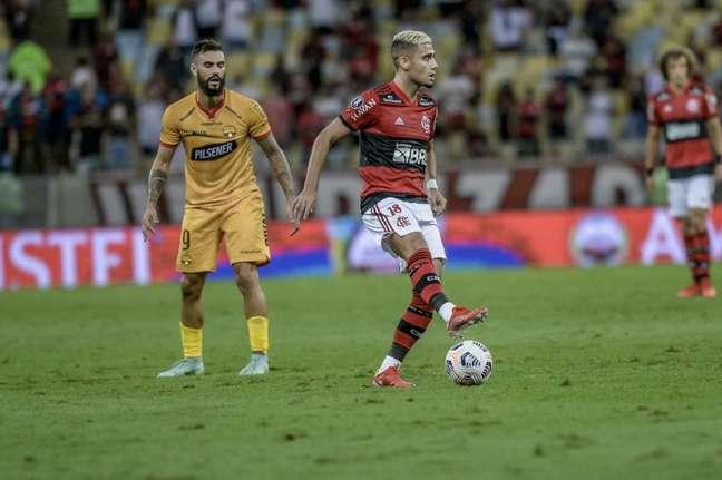 Andreas recebeu uma das maiores notas do LANCE! na partida (Foto: Marcelo Cortes/Flamengo)