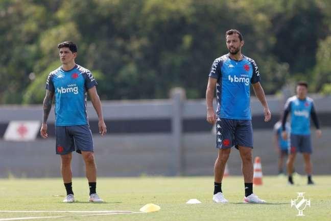 Cano e Nene são as grandes esperanças do Vasco diante do Brusque, nesta sexta-feira (Rafael Ribeiro/Vasco)