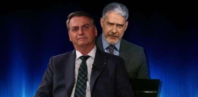 Bolsonaro aceita ser entrevistado pelo 'inimigo' Bonner, mas só ao vivo