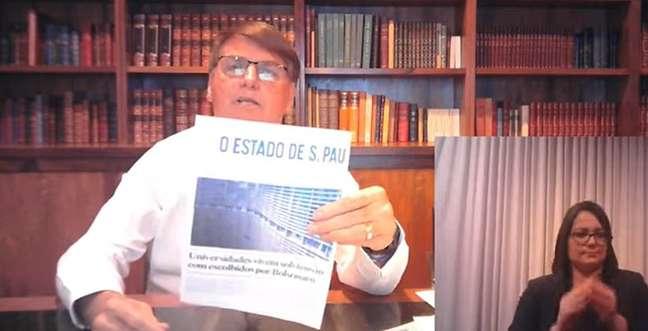 Jair Bolsonaro disse que, ainda adolescente, tinha orgulho de ver seu nome no 'Estadão'