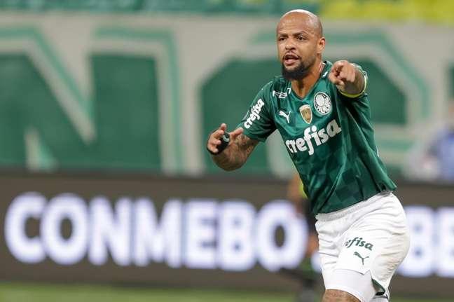 Felipe Melo jogador do Palmeiras durante partida