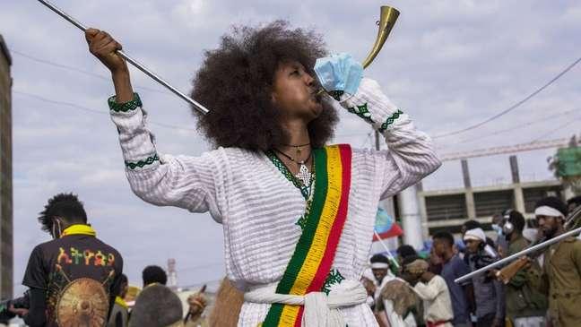 Etíopes estão comemorando o Ano Novo agora, porque seu calendário é diferente do ocidental