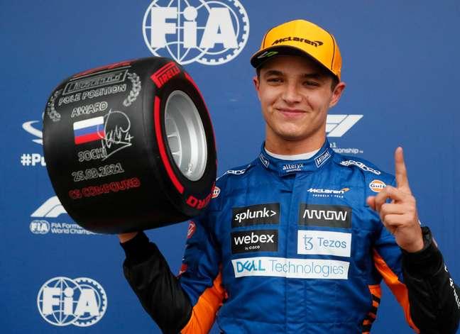 Lando Norris conquistou a pole-position para o GP da Rússia