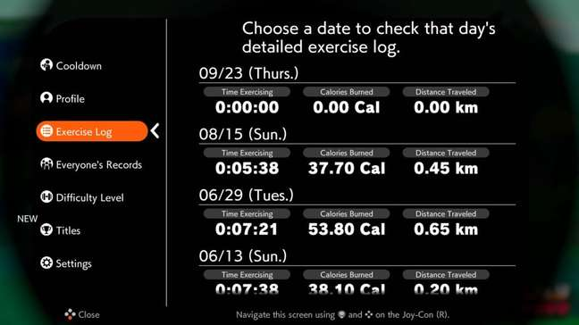 Ring Fit Adventure mantém dados dos exercícios registrados