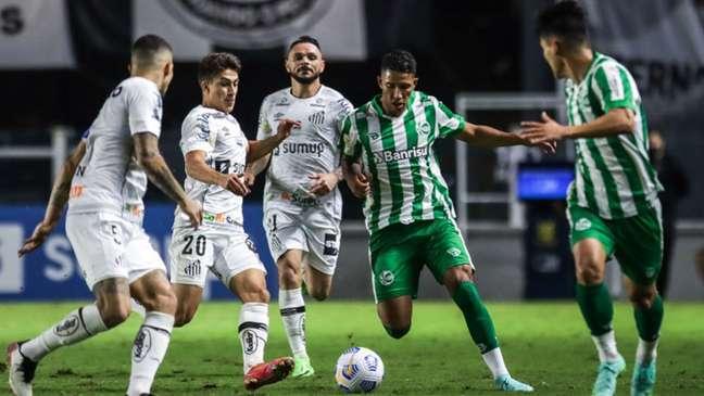 Santos e Juventude ficaram no empate no primeiro turno do Brasileirão (Fernando Alves/ECJuventude)
