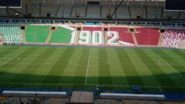 Mosaico leva ano de fundação do clube (Foto: Reprodução)