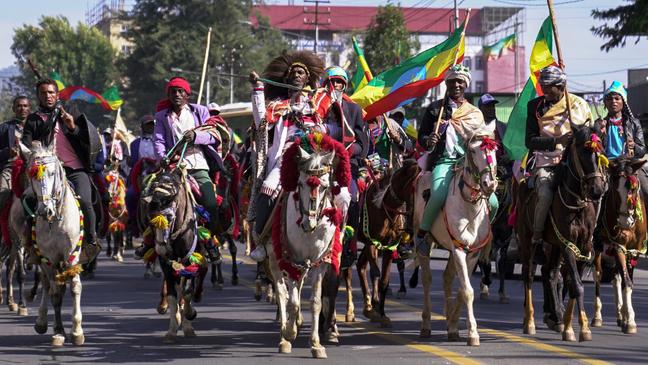 Desfile para comemorar a Batalha de Adwa