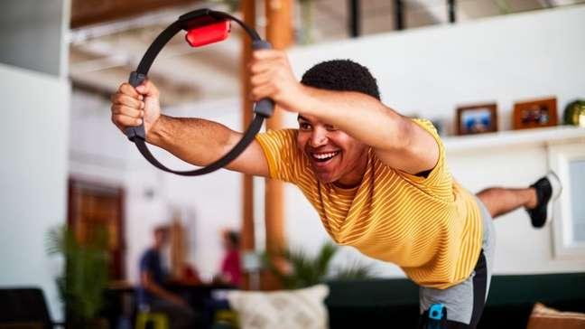 Ring Fit Adventure, do Nintendo Switch, permite fazer exercícios em casa