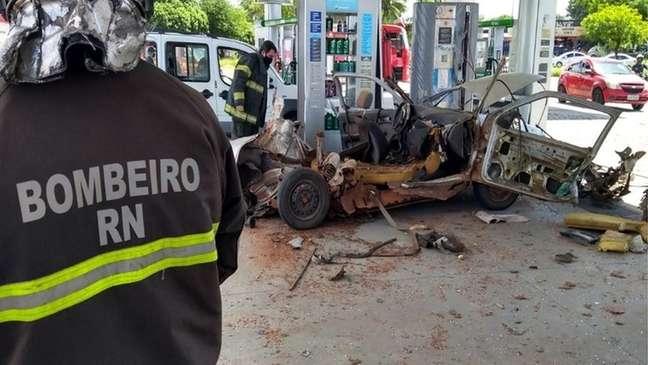 Explosão provocada por conversão clandestina de veículo para GLP em Natal, no Rio Grande do Norte (12/07/2020)