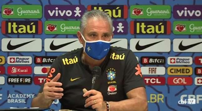 Tite convocou a Seleção Brasileira para as próximas três partidas das Eliminatórias da Copa do Mundo ( Foto: Reprodução / CBF TV)