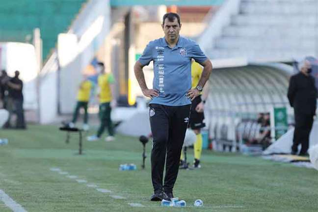 Fábio Carille analisou a derrota do Santos para o Juventude (Foto: Pedro Ernesto Guerra Azevedo / SantosFC)