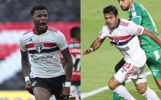 Arboleda e Eder foram alvos de especulações nos últimos dias (Fotos: Rubens Chiri e Paulo Pinto / saopaulofc.net)