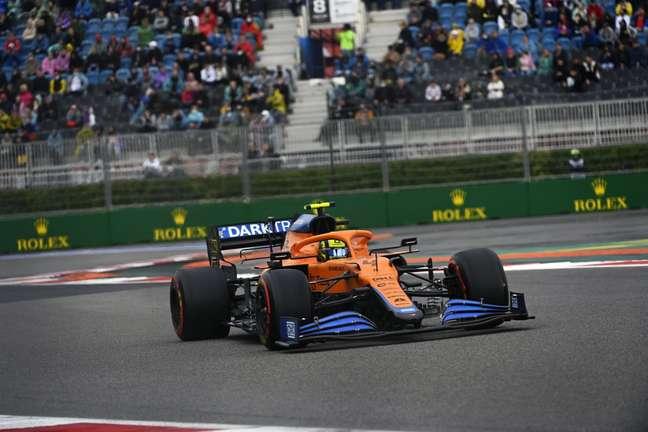 Lando Norris terminou o GP da Rússia na sétima posição