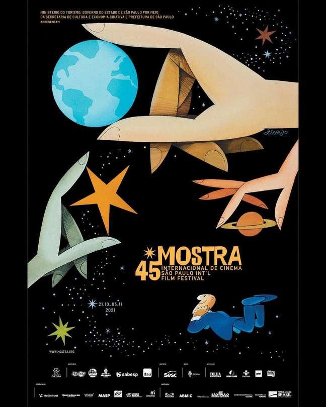 Cartaz da 45ª Mostra Internacional de Cinema de SP é assinado por Ziraldo