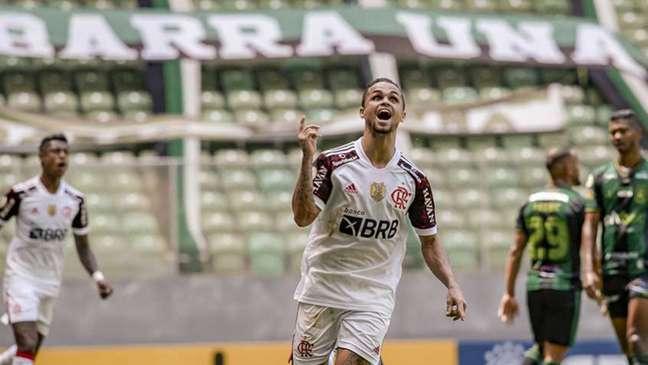 Michael marcou o gol do Flamengo no empate com o América-MG (Marcelo Cortes / Flamengo)