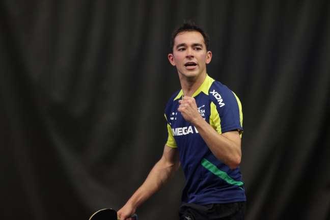 Hugo Calderano bateu o esloveno Darko Jorgic por 4 sets a 2 para conquistar seu primeiro WTT Star Contender(Divulgação)