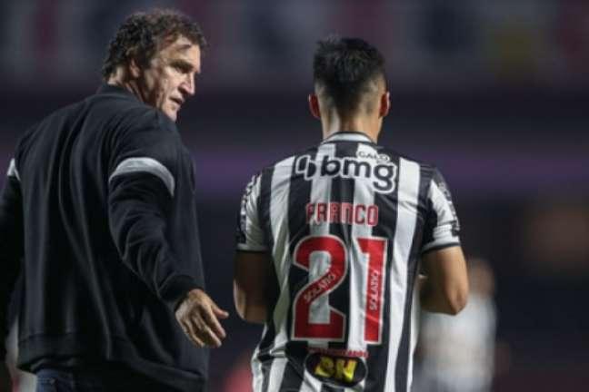 Cuca ficou satisfeito com o resultado do Atlético no Morumbi- (Pedro Souza/Atlético-MG)