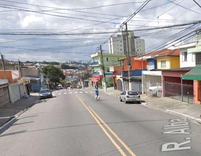 Rua Alba, na região do Jabaquara, zona sul da capital