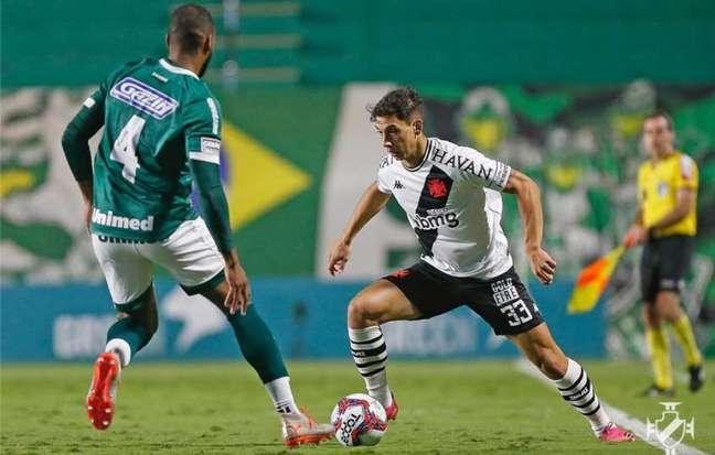 No primeiro turno, o Vasco perdeu para o Goiás por 1 a 0, no Estádio da Serrinha (Foto: Rafael Ribeiro/Vasco)