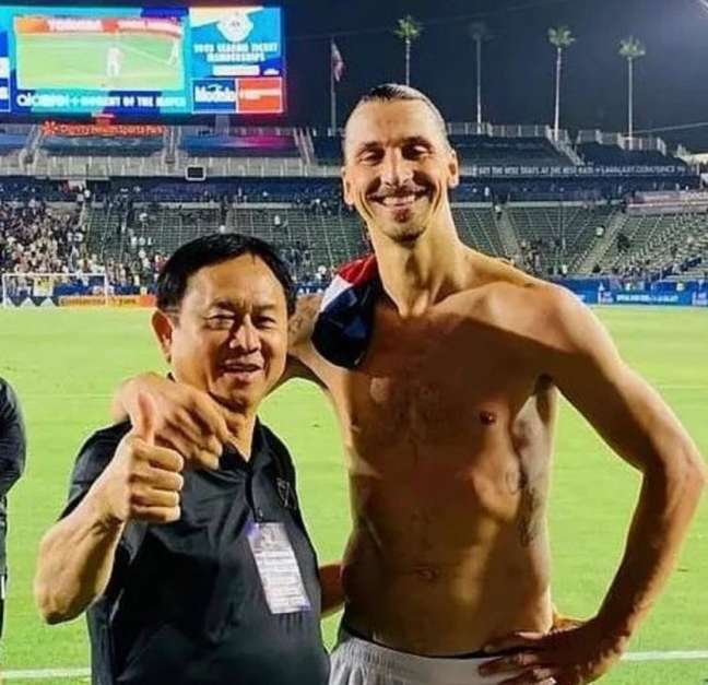Freddie Fu e Ibrahimovic (Foto: Reprodução)