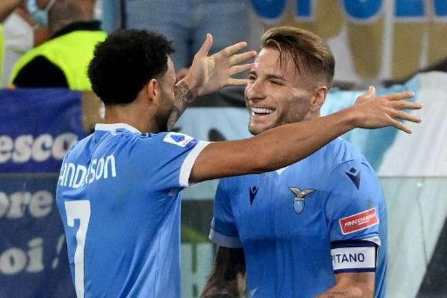 Lazio bateu a Roma pelo Campeonato Italiano (Foto: VINCENZO PINTO / AFP)