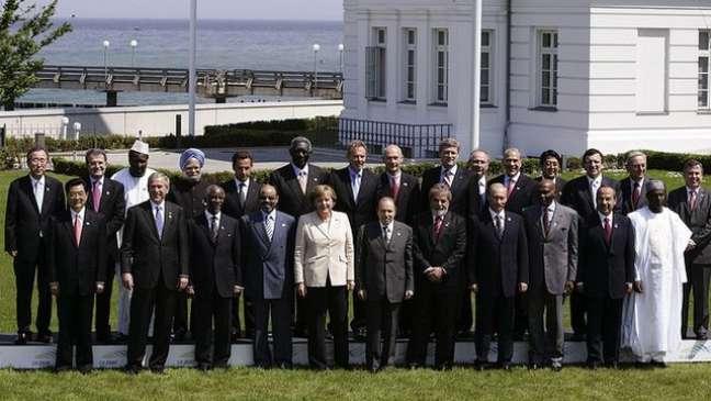 No encontro do G-8, em Heiligendamm, Merkel costurou um acordo inicial sobre mudanças climáticas