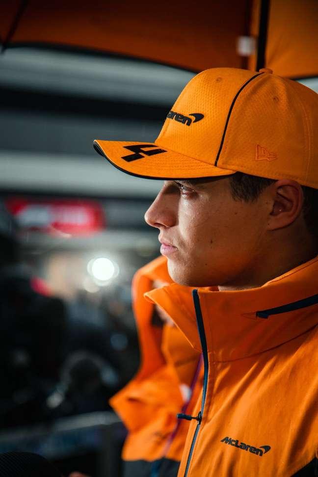 A tristeza refletida no rosto de Lando Norris depois do GP da Rússia