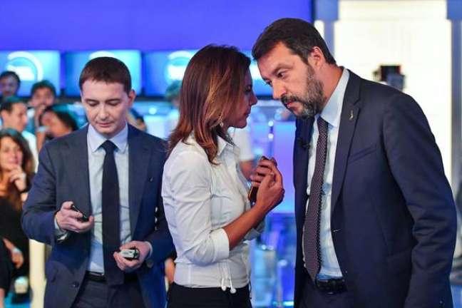 Luca Morisi (esquerda) cuidava das redes socais de Salvini