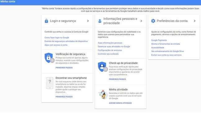 As configurações de privacidade permitem que o usuário impeça seus dados de serem repassados a anunciantes