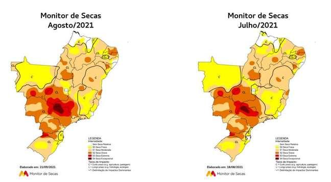 Monitoramento mostra agravamento da seca em região atingida por 'tempestade de areia'
