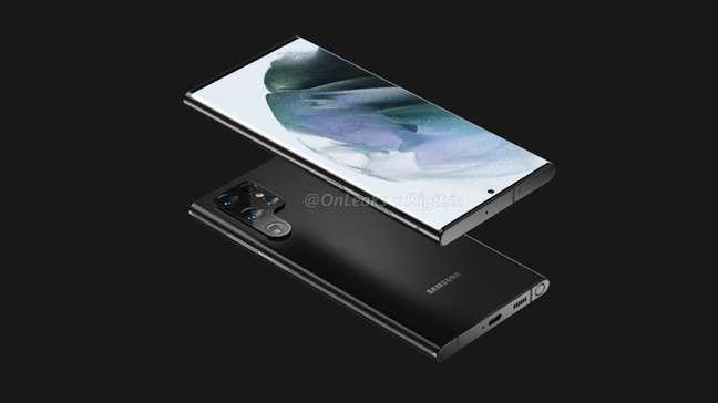 Possível Samsung Galaxy S22 Ultra