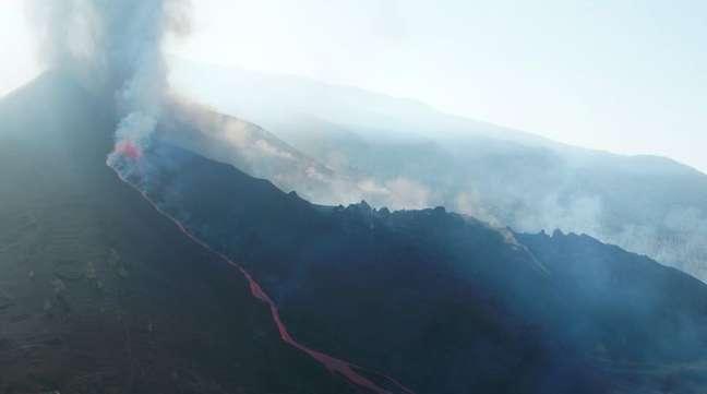 Erupção de vulcão na ilha espanhola de La Palma 26/09/2021 REUTERS TV via REUTERS