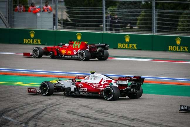Antonio Giovinazzi terminou o GP da Rússia em 16º