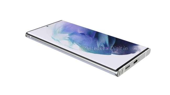 Samsung Galaxy S22 Ultra pode ter espaço para guardar caneta S Pen