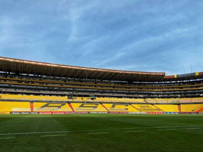 O Estádio Monumental voltará a receber torcida na quarta-feira, em jogo da Libertadores (Foto: Flamengo/Twitter)