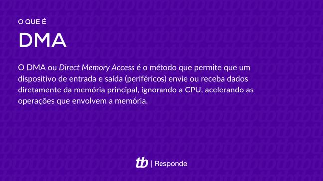 DMA é o método que permite acesso direto a memória sem o uso da CPU