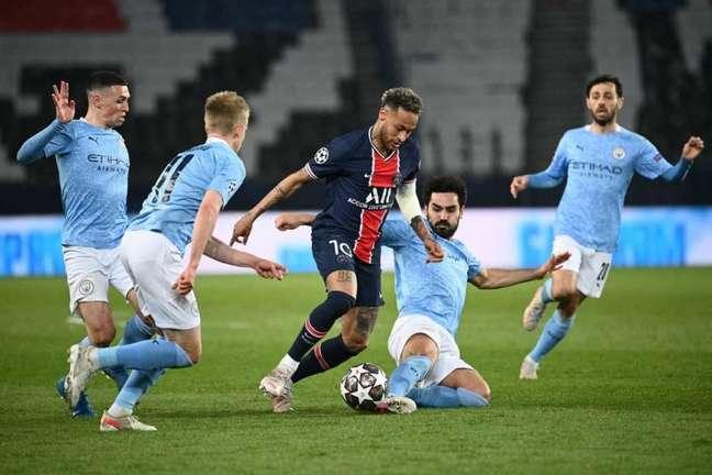Manchester City bateu o PSG nos dois jogos da última semifinal da Champions League (Foto: AFP)