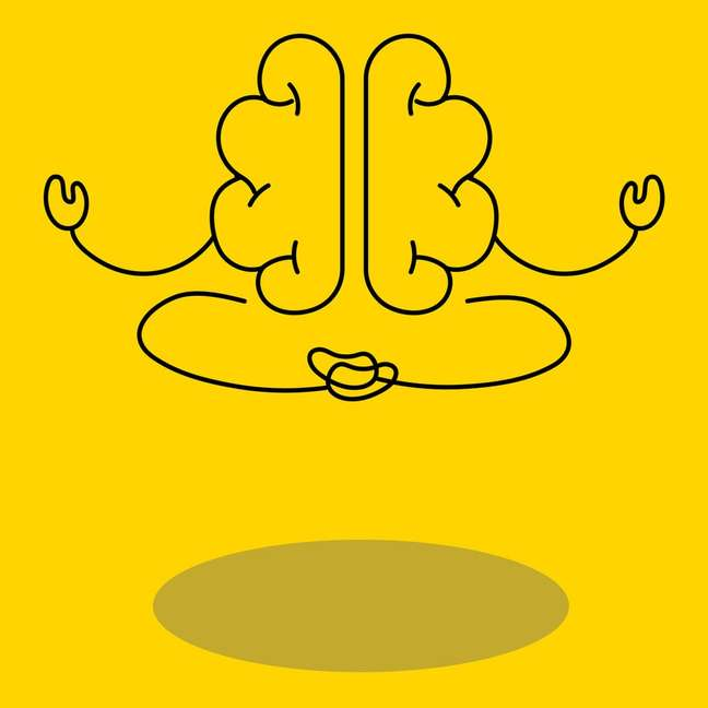 Cerebro meditando