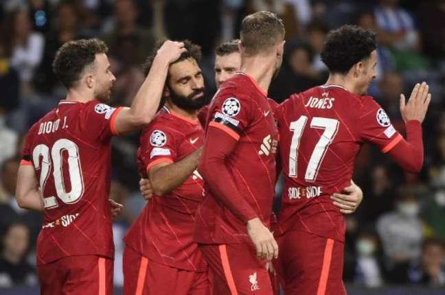 Liverpool goleou o Porto por 5 a 1 (Foto: MIGUEL RIOPA / AFP)