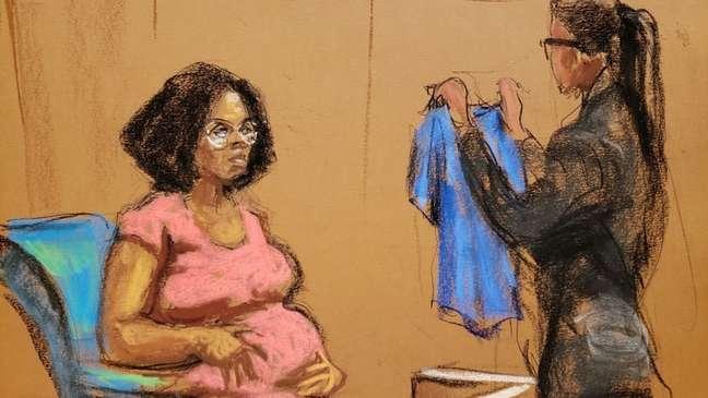 Jerhonda Johnson Pace testemunhou no primeiro dia do julgamento