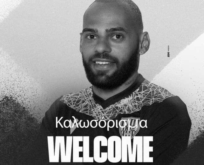 Jailson é anunciado no POX, equipe da segunda divisão do Chipre (Foto: Divulgação)